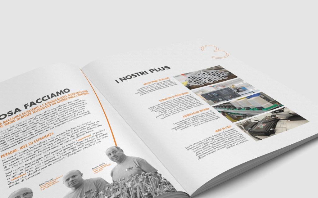 progetto grafico brochure roger technology