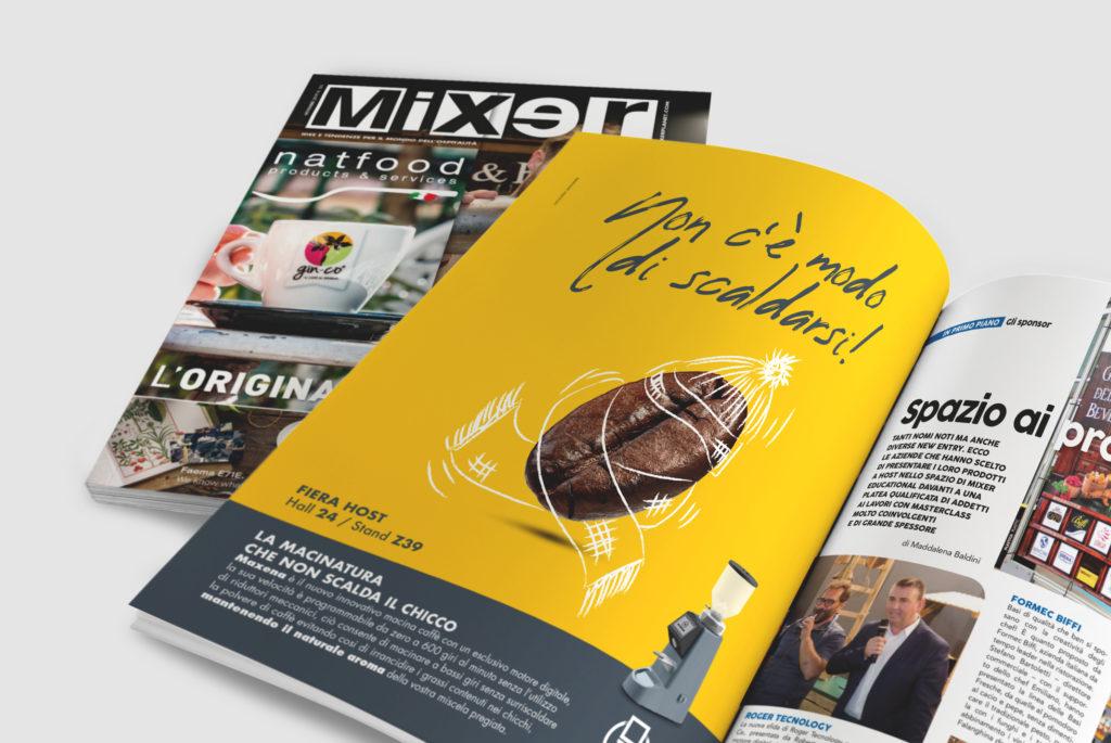 progetto grafico pagina mixer